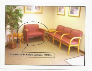 One bariatric chair made a difference.